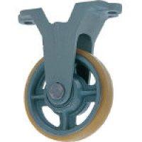 USB-K300 鋳物中荷重用ウレタン車輪固定車付ベアリング入 300φ   ヨドノ(YODONO) 【送料無料】【激安】【セール】