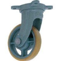 USB-G180 鋳物中荷重用ウレタン車輪自在車付ベアリング入 180φ   ヨドノ(YODONO) 【送料無料】【激安】【セール】