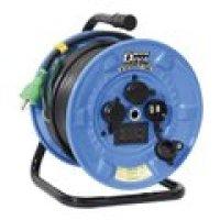NPDMW-EK33 電圧電流メーター付  デジタルドラムDiVA(ディーヴァ) 屋外型 過負荷漏電保護兼用 日動工業