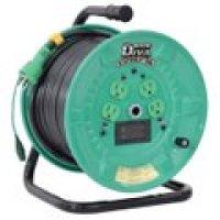 NPDM-EB34 電圧電流メーター付  デジタルドラムDiVA(ディーヴァ) 屋内型 漏電保護専用 日動工業