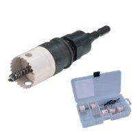 JHUC-2133 充電バイメタルホールソーセット(薄刃・替刃式タイプ)  ジェフコム 4937897024412