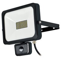 SLS-F10W LEDフラットセンサーライト 900Lm 防雨2Pプラグ 日動工業